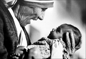 Motherteresa and child