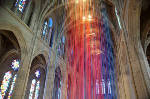 Photo of Graced with Light art installation by Anne Patterson
