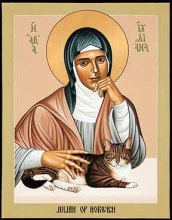 Julian of Norwich and her cat