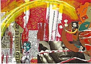 Collage art by Tema Okun