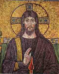 Christ Pantokrator mosaic, Ravenna, 6th century.